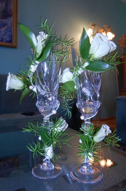 Бокалы и шампанское на свадьбу своими руками